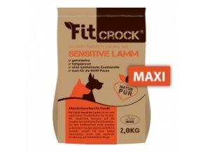 Fit-Crock Sensitive Jehněčí - granule lisované za studena - MAXI 3 kg