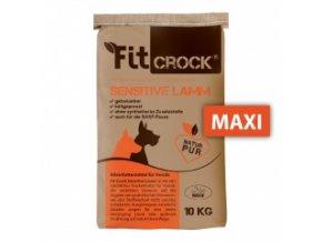 Fit-Crock Sensitive Jehněčí - granule lisované za studena - MAXI 10 kg