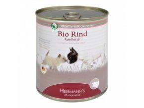 Konzerva pro psy a kočky - Hovězí maso (Bio) 800 g