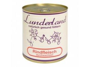Konzerva pro psy a kočky - Hovězí prorostlé - Lunderland - 800 g
