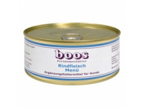 Konzerva pro psy - Hovězí s rýží a zeleninou - BOOS - 300 g