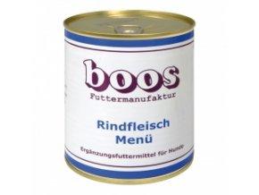 Konzerva pro psy - Hovězí s rýží a zeleninou - BOOS - 800 g