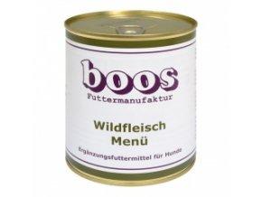 Konzerva pro psy - Divočina s rýží a zeleninou - BOOS - 800 g