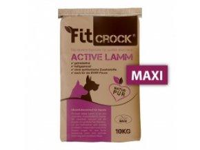 Fit-Crock Active Jehněčí - granule lisované za studena - MAXI 10 kg
