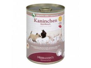 Konzerva pro psy a kočky - Králičí maso 400 g