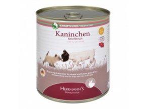 Konzerva pro psy a kočky - Králičí maso 800 g