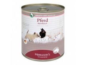 Konzerva pro psy a kočky - Koňské maso 800 g