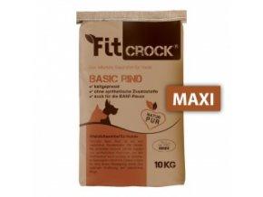Fit-Crock Basic Hovězí - granule lisované za studena - MAXI 10 kg