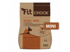 Fit-Crock Basic Hovězí - granule lisované za studena - MINI 2 kg