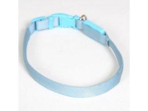 Svítící nylonový obojek - popruh modrý - 38 až 48 cm / 15 mm