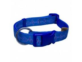 Nylonový obojek – popruh EKG modrý – 30 až 50 cm / 15 mm