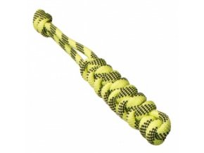 Pešek z lana kulatý – zelený 5 x 22 cm / 14 mm