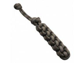 Pešek z lana hranatý – šedý 6 x 29 cm / 14 mm