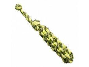 Pešek z lana hranatý – zelený 6 x 29 cm / 14 mm