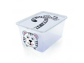 Plastový kontejner s víkem 30 l - zvířátka