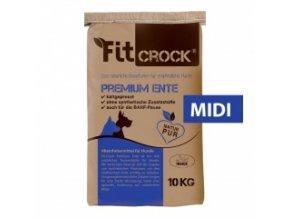 Lisované granule Fit-Crock Premium Kachní - MIDI 10 kg