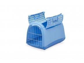 IMAC Přepravka pro kočky a psy - plastová - modrá - D 50 x Š 32 x V 34,5 cm