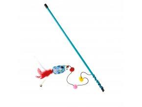 IMAC Hračka pro kočky - hůlka s myší - 47 cm