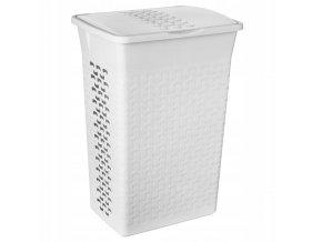 Prádelní koš Cotton 55l - antická bílá