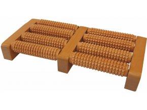 919 2 akupresurni masazni roler na chodidla dreveny