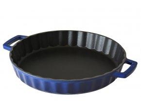 Litinová forma kulatá 30 cm - modrá