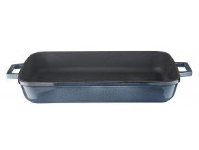 Litinový pekáč 26x40 cm - šedá majolika