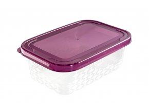 Sada dóz na potraviny Ori purple 5ks - obdelníková
