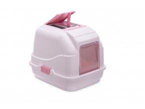IMAC Krytý kočičí záchod s uhlíkovým filtrem a lopatkou - růžový - D 50 x Š 40 x V 40 cm
