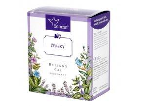Ženský bylinný čaj porcovaný