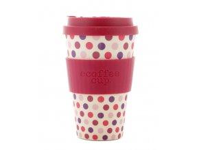 Ecoffee hrnek Pink Polka 400 ml