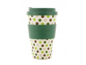 23670 ecoffee hrnek green polka 400 ml