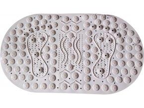 Masážní protiskluzová podložka do koupelny s magnety bílá 70 x 39 cm - SJH 318A