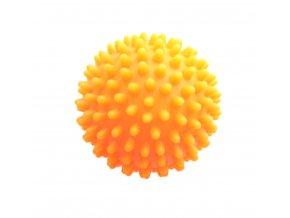 Masážní míček ježek 7 cm - oranžový - SJH 13