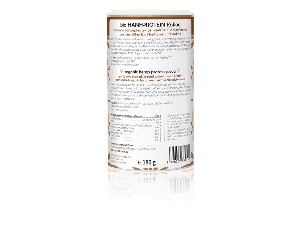 Hanfprotein kakao 180g 1500