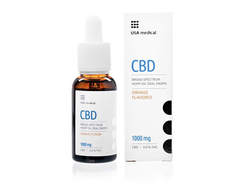 USA medical Oral Drops 1000mg CBD olej 30 ml