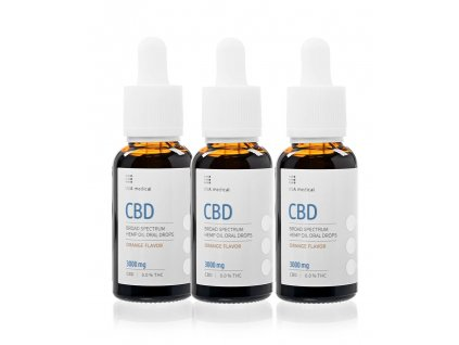 USA medical Oral Drops 3000mg CBD olej 30 ml 3xset