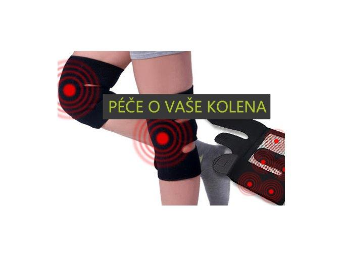 Samovýhřevné ortézy na kolena s Turmalinem