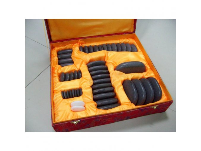 Lávové masážní kameny  Basalt 46 ks