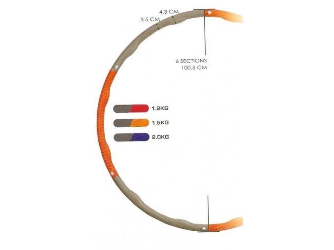 Masážní obruč Hula Hoop 2 kg