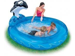 Bazén nafukovací dětský VELRYBA 203x157x107