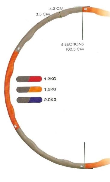 SEDCO Masážní obruč Hula Hoop 2 kg