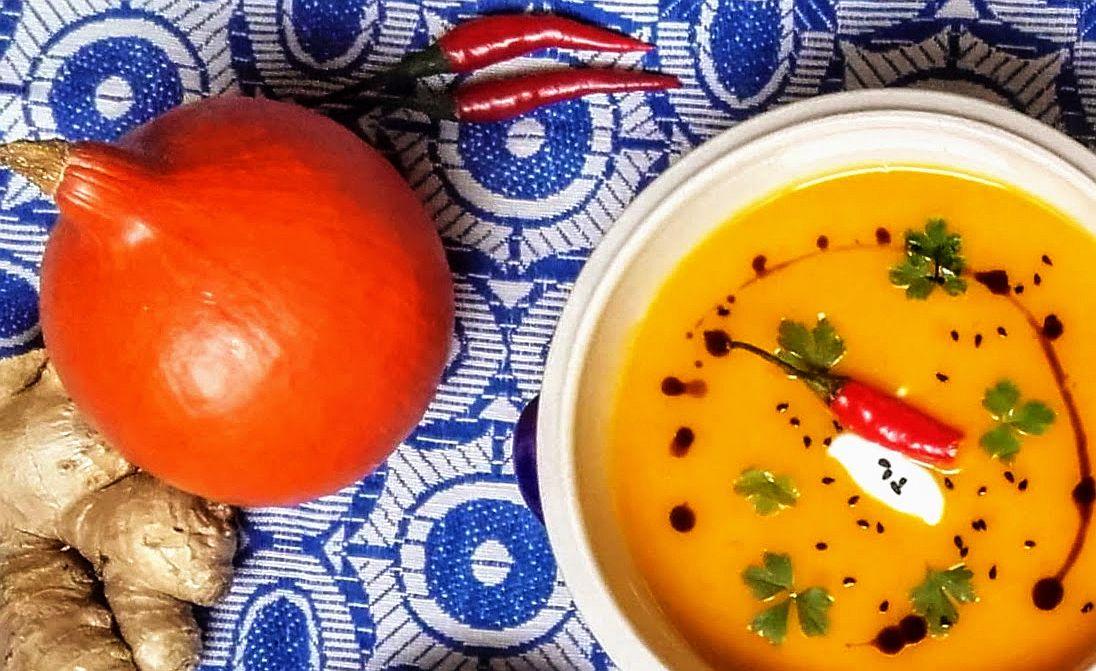 Dýňová polévka s koriandrem