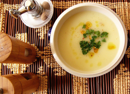 Krémová polévka z vodnice
