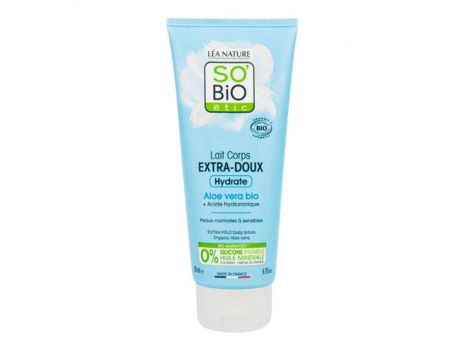 SO'BiO étic Mléko tělové extra hydratační s aloe vera a hyaluronem BIO 200 ml
