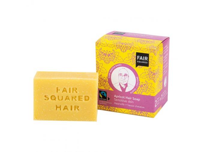 Fair Squared Šampon tuhý na mytí vlasů – meruňkový pro citlivou pokožku hlavy 2x80 g