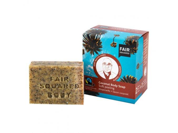 Fair Squared Mýdlo peelingové s kokosem 2x80 g