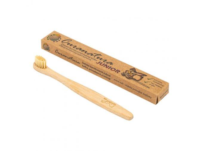 Curanatura Kartáček zubní bambusový JUNIOR