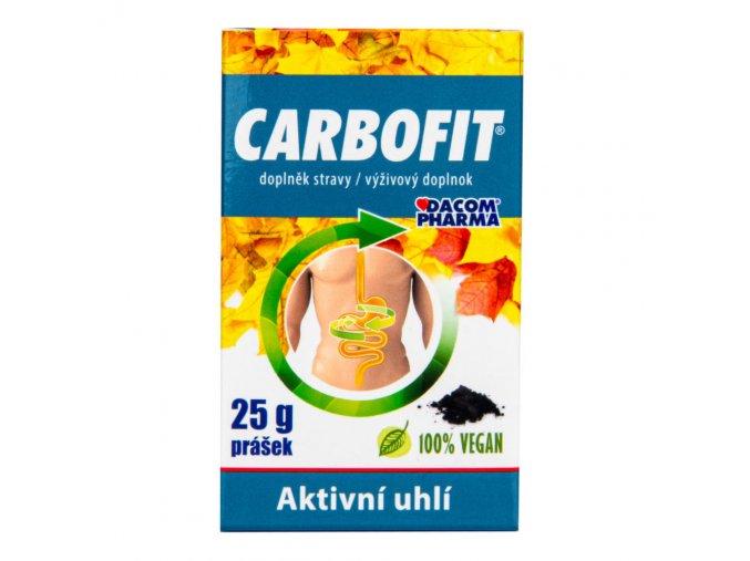 Dacom CARBOFIT aktivní rostlinné uhlí 25 g