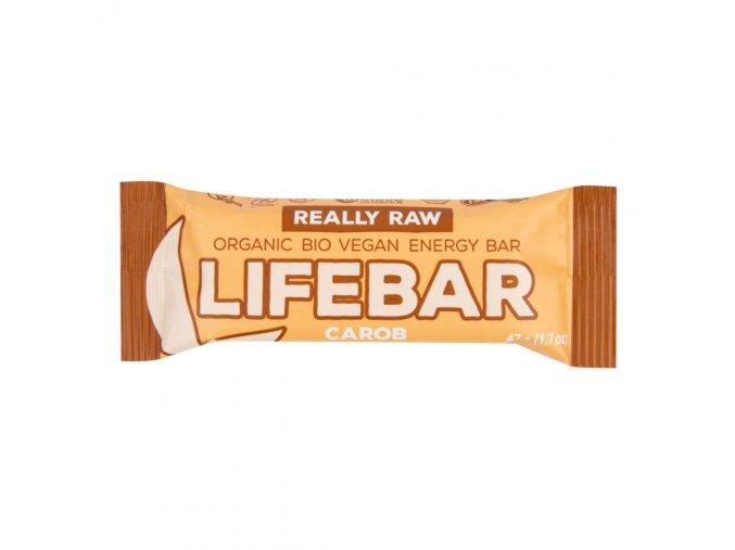 Lifefood Tyčinka Lifebar karobová s lískovými ořechy BIO 47 g