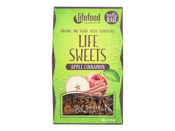 Lifefood Life Sweets jablečné se skořicí BIO 80 g